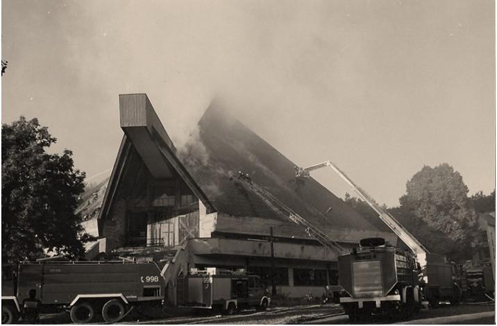 pożar kościoła